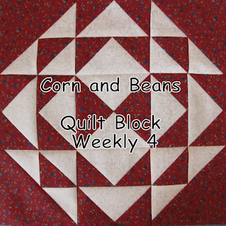 quilt block corn and beans