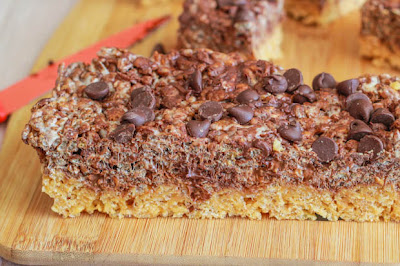 Reeses Chocolate Peanut Butter Rice Krispie Bars