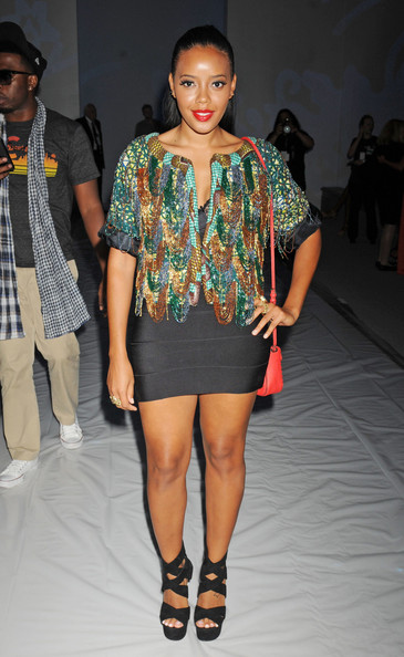 Angela Simmons in Jewel by Lisa at New York Fashion week - iloveankara.blogspot.co.uk