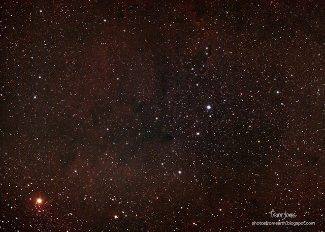 Elephant's Trunk Nebula through an 80mm telescope
