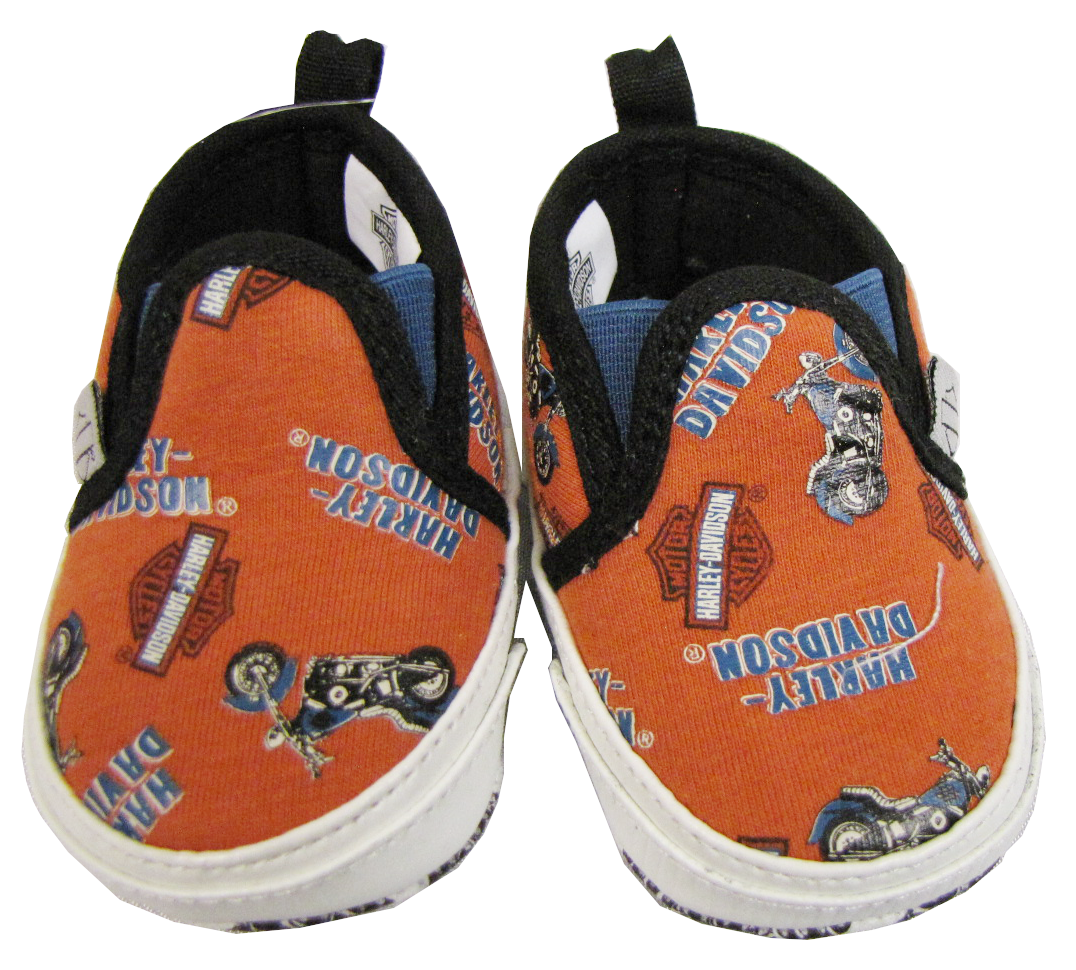 http://www.adventureharley.com/harley-davidson-boys-prewalker-sneakers-orange