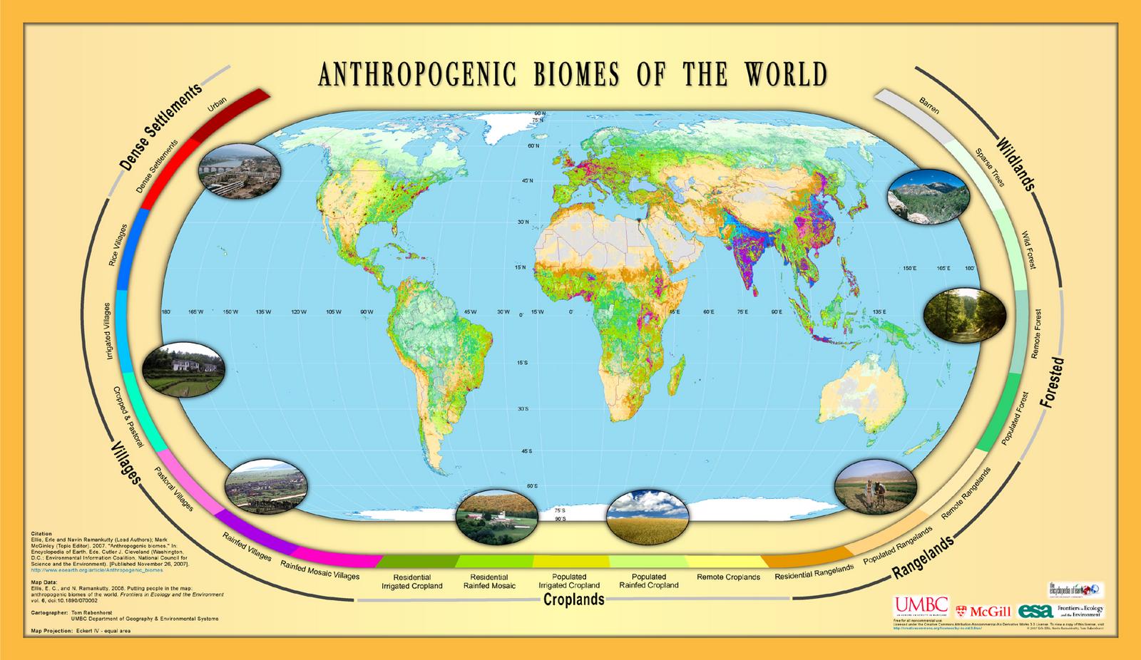Bes Urban Lexicon Anthrome Anthropogenic Biome