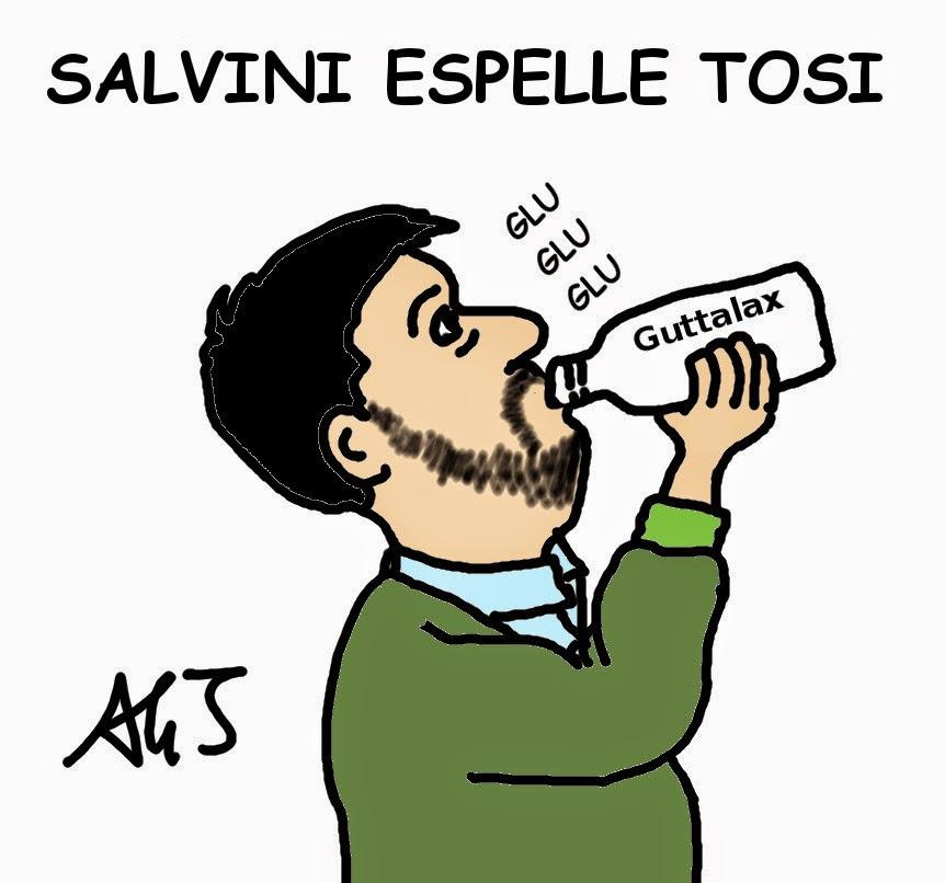 Salvini, Tosi, Lega, satira , vignetta