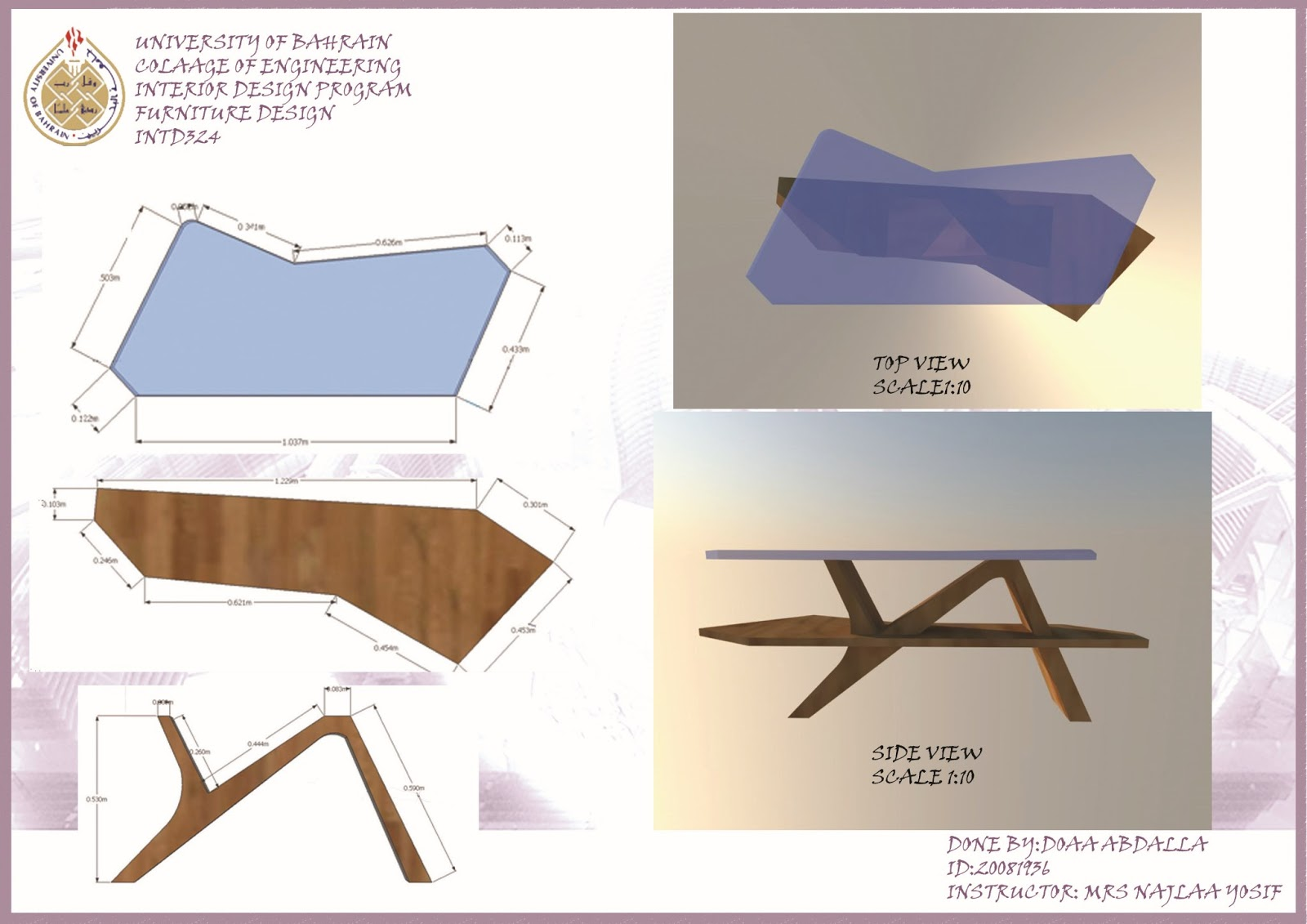 doaa abdalla 39 s portfolio furniture design course