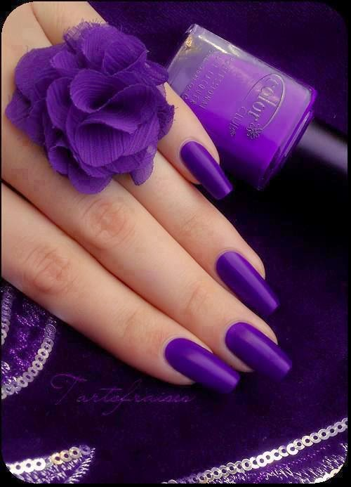 Simple Purple nail art designs | Fashion\'s Feel | Tips and Body Care