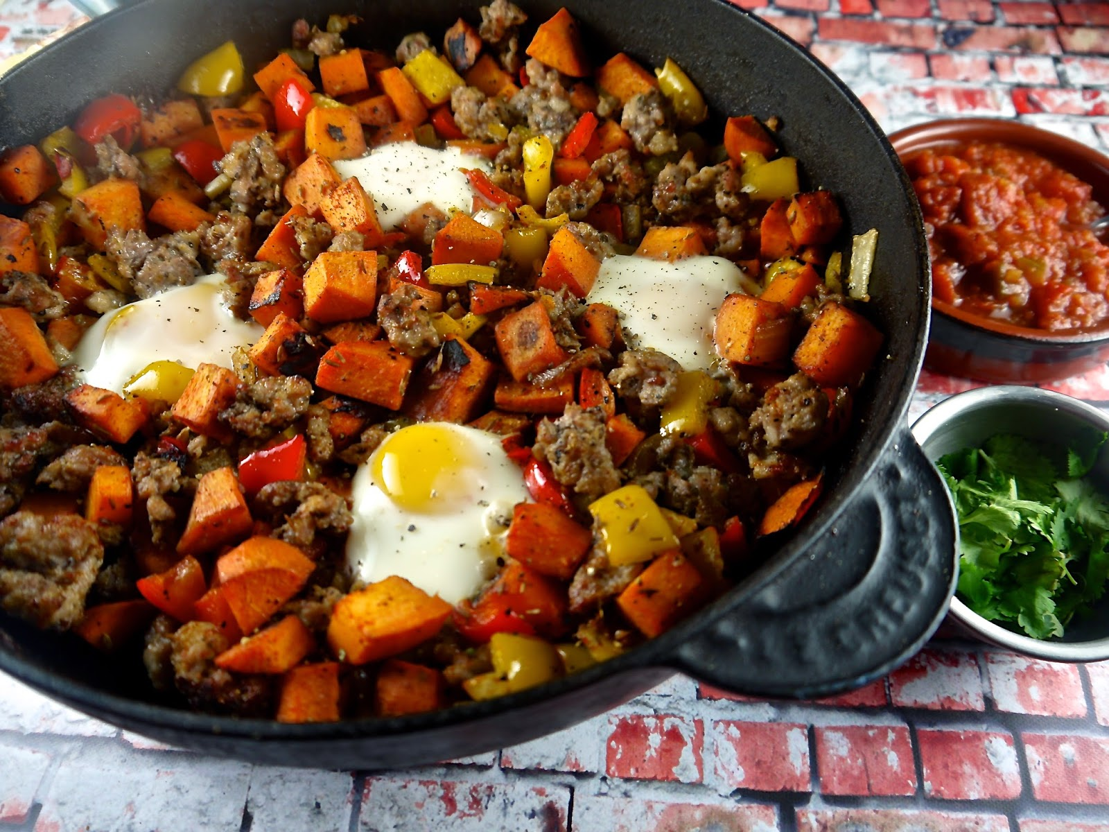 the preppy paleo: Paleo Eggs, Sausage & Sweet Potato Hash