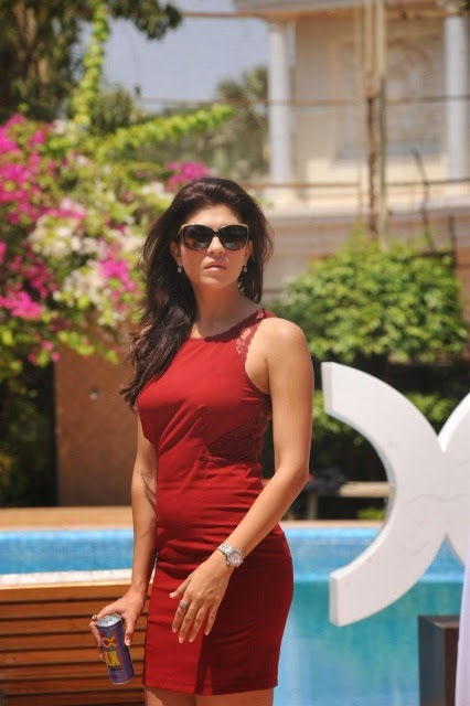 Archana Vijaya in Sexy Red Mini-dress