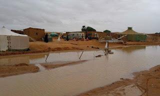 Des réfugiés sahraouis sans abris en raison des fortes pluies