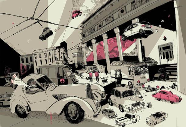 100 Cars We Love  | ilustração de Josh Cochran