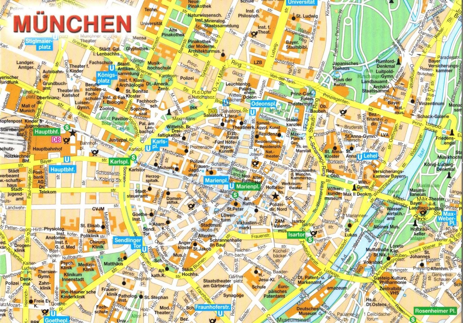Resultado de imagen de munich mapa