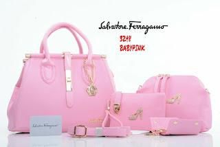 Tas KW Salfatore Feragamo Paradise Set 4in1 3248DC Jakarta