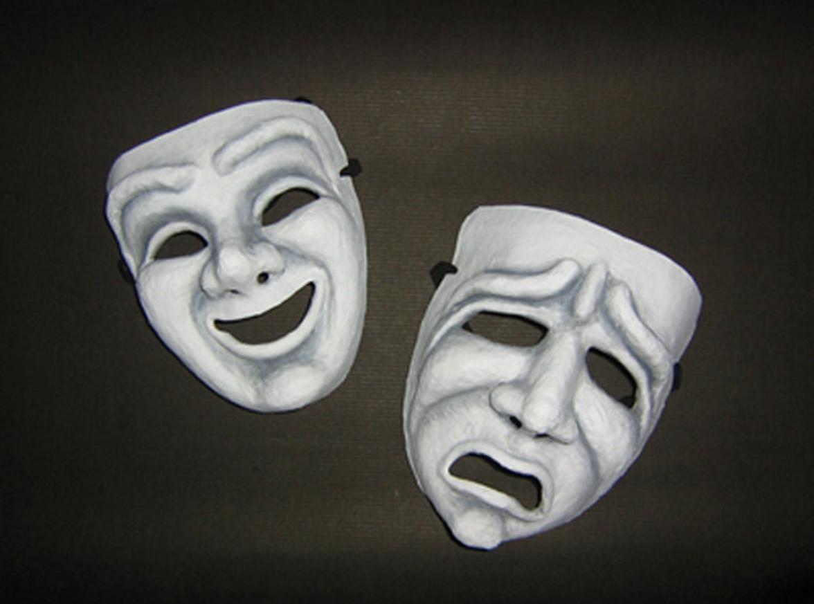 mascaras de teatro coloridas
