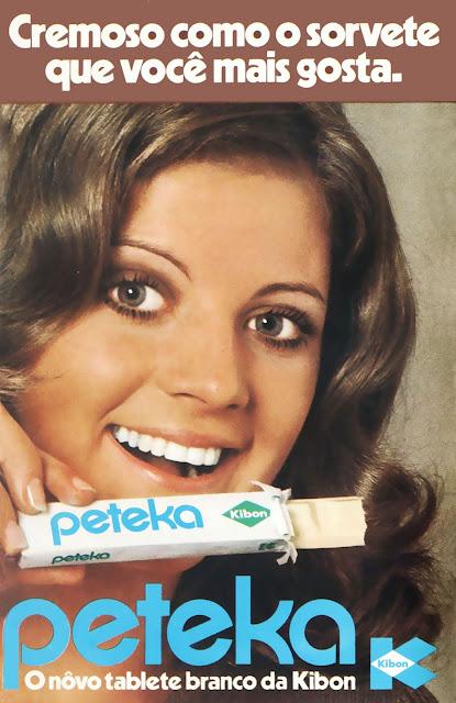 Propaganda de 1971 do Sorvete Peteka da Kibon.