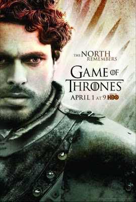 "Game of Thrones Season 2 Character Television Posters - ""The North Remembers"" - Richard Madden as Robb Stark"