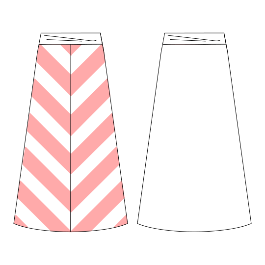 how to make an a line skirt without a pattern