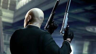 Hitman Back Holding Double Guns with Silencer HD Desktop Wallpaper
