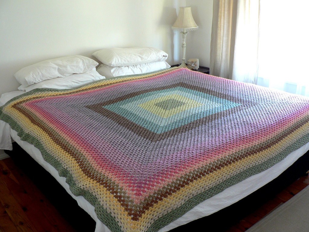 Knitting Granny Square Blanket : Granny square patterns knitting gallery