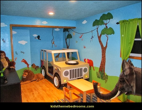 Decorating theme bedrooms maries manor jungle baby for Baby jungle mural