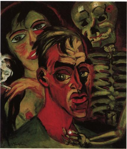 Max Pechstein, Self Portrait With Death (1920)