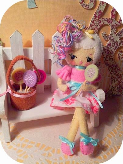 Sweet Candie Poseable Felt Doll