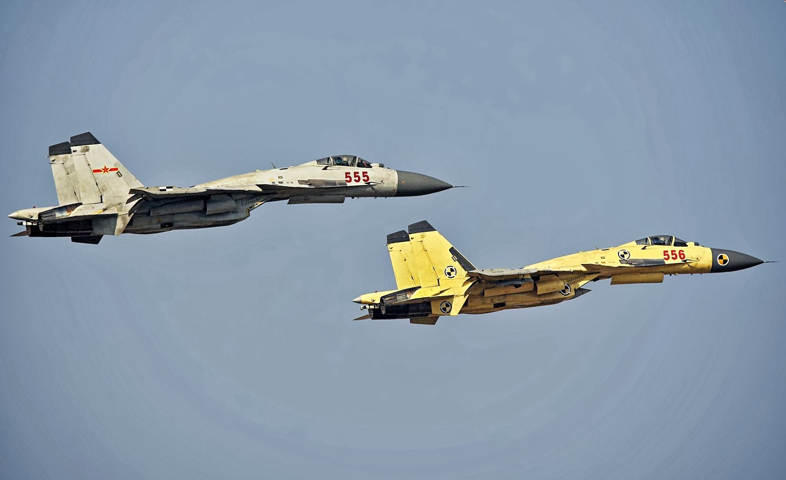 Prototypes of J-15 Flying Shark Naval Fighter Aircraft ...
