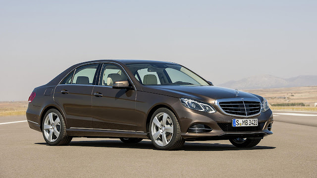 The new-generation Mercedes-Benz E-Class front side