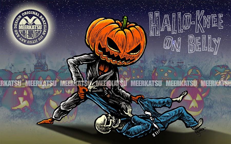 Meerkatsu Art Halloween Themed Desktop Wallpaper