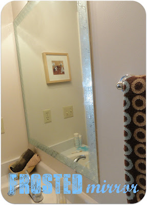 Frosted Mirror With Martha Stewart Paint A Little Tipsy