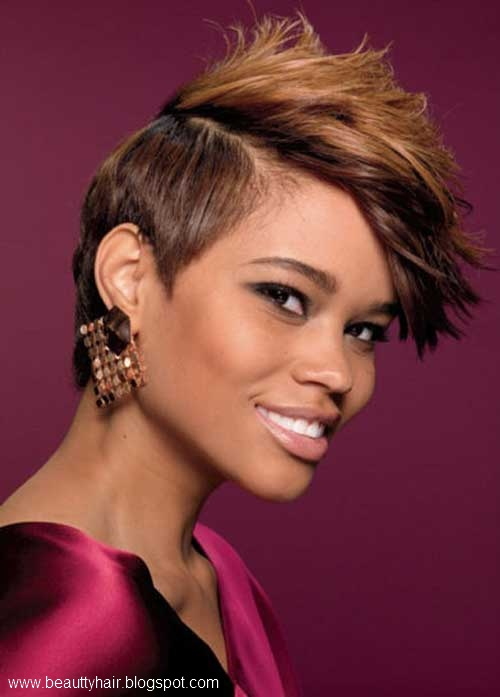 Hair Cutting Ladies : Braided hair also looks very modern with a short haircut .