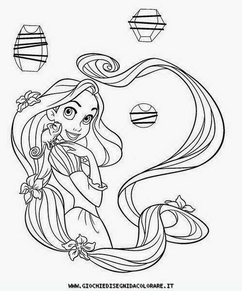 Disegni da colorare rapunzel for Disegni da colorare e stampare di rapunzel