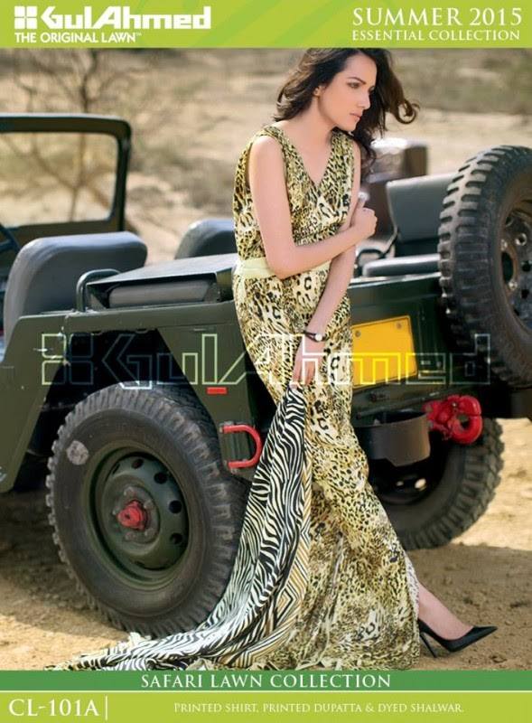 Safari Lawn Summer Collection by Gul Ahmed 2015 12