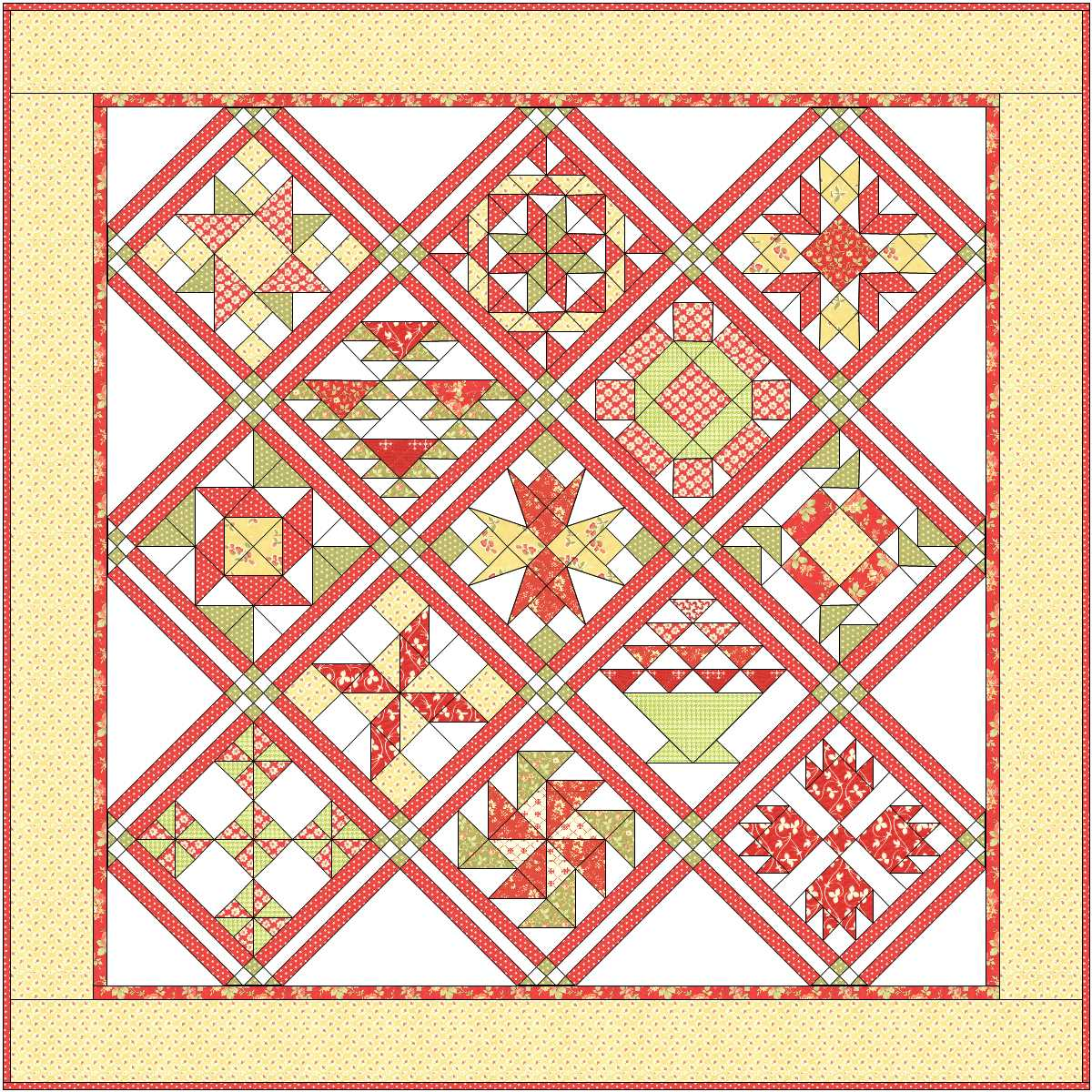 Sisters And Quilters Apple Pie In The Sky Quilt Along Finale