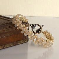 Sandstone Swarovski Crystal Bracelet