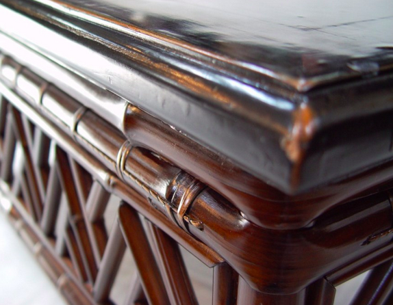 Beautiful Detail View Of An Antique Lacquered Coffee Table At Terra Nova Asian  Furniture
