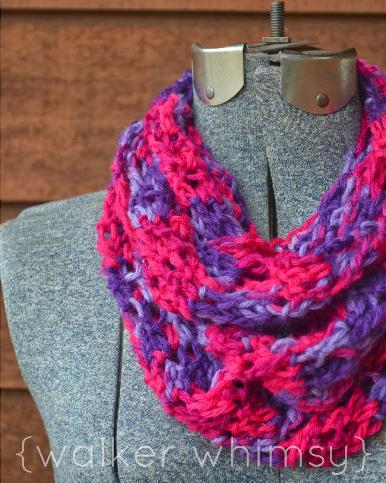 walker whimsy}: Crochet Infinity Scarf {POTM}