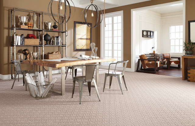 trendy patterned and textured carpet