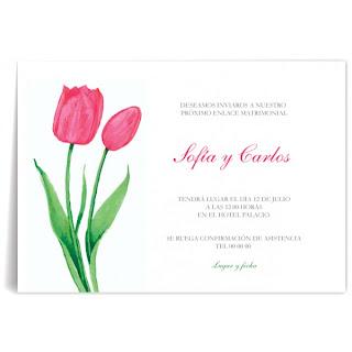 Tarjetas de Boda con Tulipanes, parte 2
