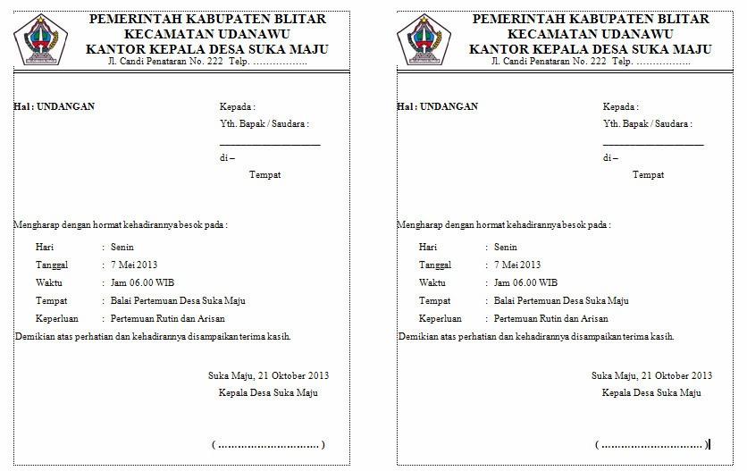 surat undangan resmi untuk warga salah satu contoh undangan warga ...