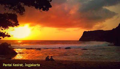 Sunset Pantai Kesirat, Jogjakarta