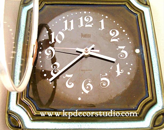 KP. Vintage. Comprar reloj original vintage de pared. Relojes cerámicos antiguos