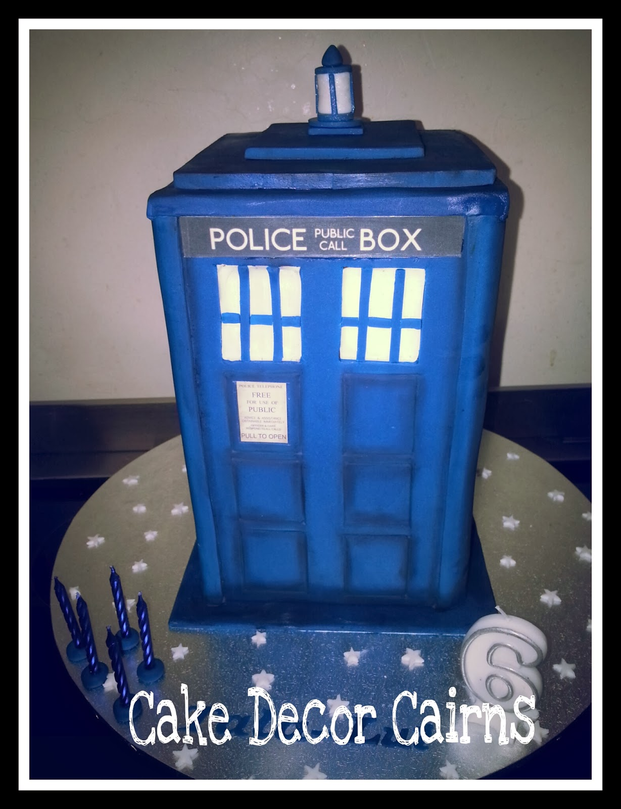 Cake Decor in Cairns Doctor Who Tardis Cake How to make