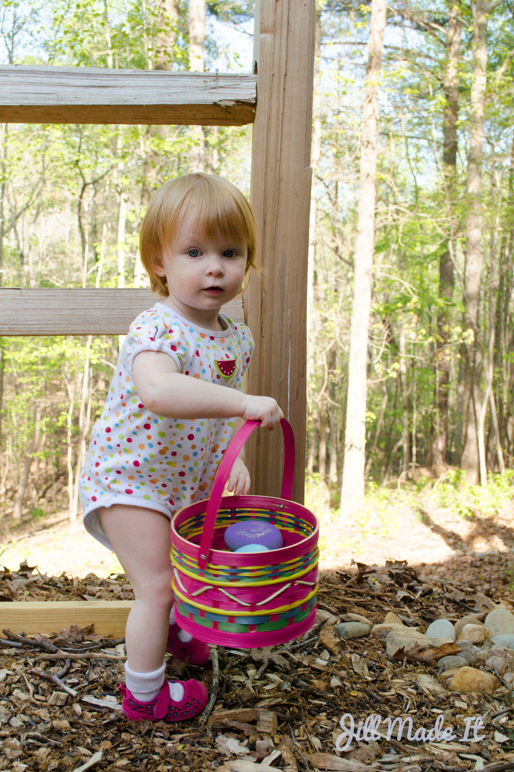 Toddler's First Easter Egg Hunt | Jill Made It