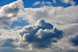 Ein Himmel des heutigen Tages...