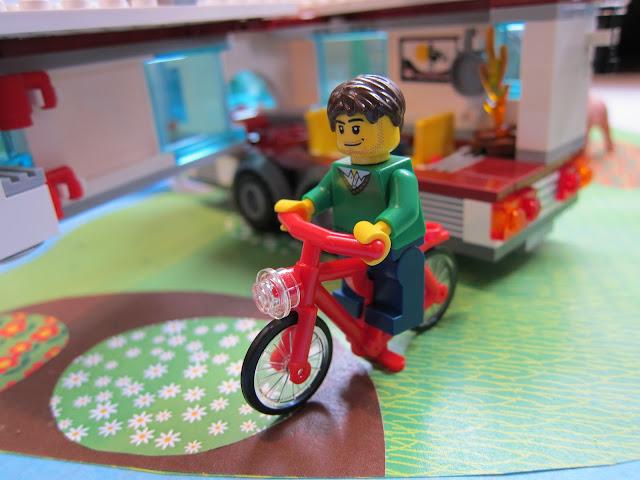 Pushbike with LEGO Car & Caravan