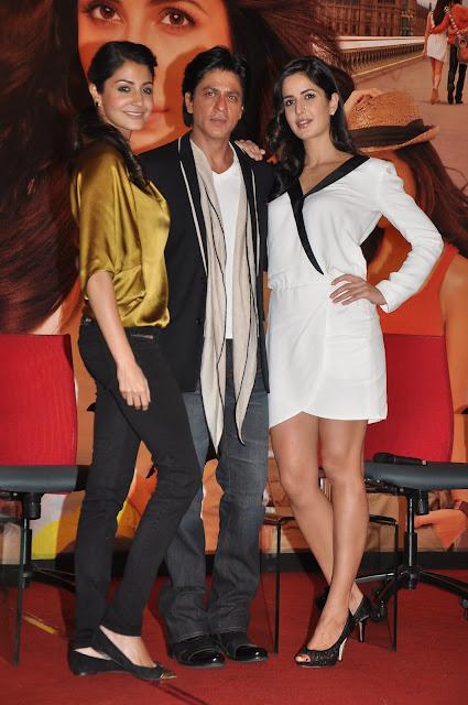 Katrina Kaif Showcasing Her Sexy Long Legs In a White Short Dress At 'Jab Tak Hai Jaan' Press Meet At YRF Studios
