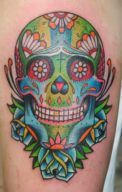 Sugar skull tattoo meaning skull tattoo designs home for Skull tattoos meaning