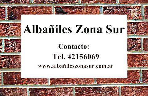 Albañiles Zona Sur. Tel. 011 42156069. Albañiles en Berazategui, Quilmes, Avellaneda, Lanus.