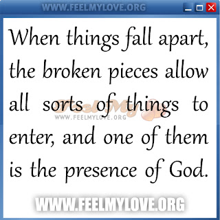 When things fall apart, the broken pieces allow all sorts