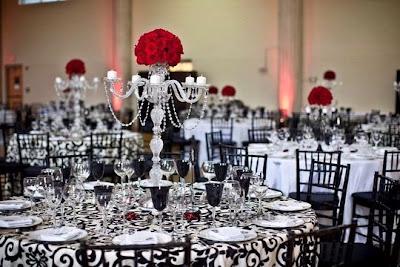 Elegant Crystal Wedding Reception Decorations