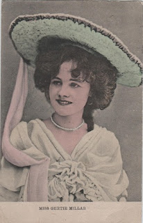 Vintage postcard of Miss Gertie Millar